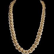 Gold Graduated Bead Necklace 14 Karat