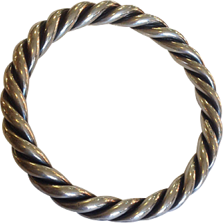 Victorian Rope Twist Bangle Sterling