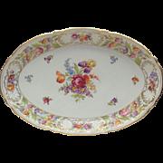 """Schumann Empress Dresden Flowers Serving Platter 15.75"""""""