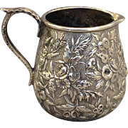 """S Kirk & Sons Repoussed Pitcher 3.5"""""""