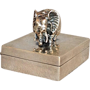 Elephant Sterling Silver Pill Box 950 Silver