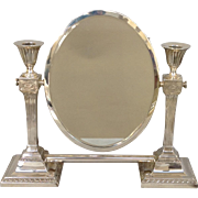Sterling Vanity Candlesticks and Mirror by Dominic and Haff