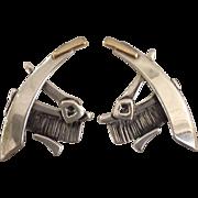Modernist Sterling Earrings Vintage Studio
