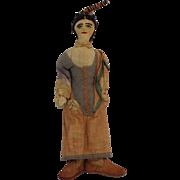 Folk Art Doll Cloth Hand Sewn Antique