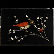Pietra Dura Bird and Ladybug Plaque Paper Label