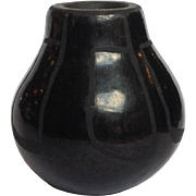 "Joe Tafoya Black on Black Pot 3"" San Ildefonso Pueblo"