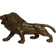 Japanese Bronze Lion Statue