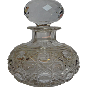 Antique ABP Cut Glass Perfume Bottle 6""
