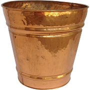 Hammered Copper Trash Can 1950's
