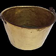 Brass Pot  Iron Handle