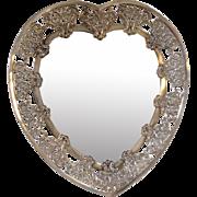 Heart Plateau Sterling England William Comyns Mirror Circa  1895
