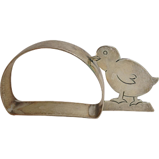 Chick Napkin Ring Sterling