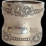 Gorham Floral Napkin Ring Sterling