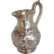 Boston Coin Silver Water Pitcher by Lincoln & Foss Circa 1860