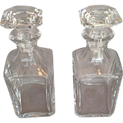 Pair of Baccarat Whiskey Decanters