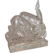 Baccarat Gazelle Art Deco Crystal Figurine