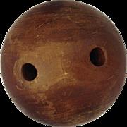 """Vintage Bowling Ball Lignum Vitae 7.5"""""""