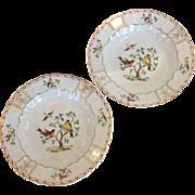 Pair of Heinrich Bird Plates Pattern HC 1332
