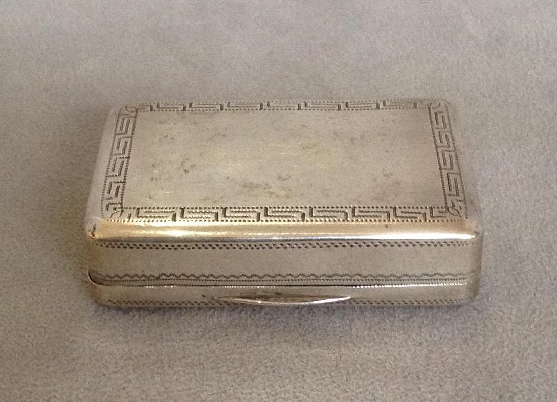 how long will it take a letter to arrive georgian sterling snuff box from 22166