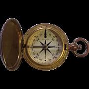 Brass Pocket Compass WWII Waltham