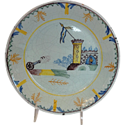 Antique Military Plate French Faience Early 19th c.