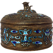 Chinese Cloisonne Enamel Covered Box 1900's