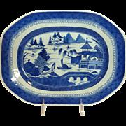 Canton Small Platter 19th C