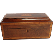 English Tea Caddy Mahogany Late 18th c.