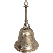 Coin Bell Repouseed Floral 1860's