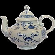 "Meissen Blue Onion Tea Pot 8"""