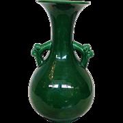 "Green Chinese 10"" Vase Circa 19th Century"