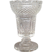 Waterford Master Cutter Hibernia Vase Footed 8 1/2""