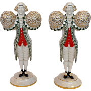 Pair of Art Deco Figurines Male Butlers Hutschenreuther