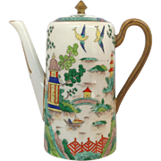 """Ye Olde Willow Large Coffee Pot Retailed by Tiffany 8 1/2"""""""