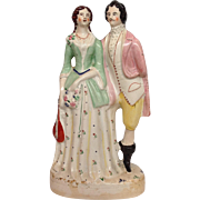 "Staffordshire Courting Couple Figure 17""  Late 19th c."