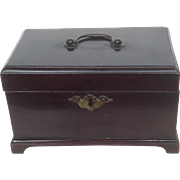 English Tea Caddy Mahogany 19th c.