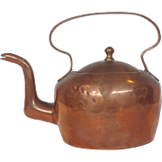 "Miniature Copper Tea Kettle 5"""