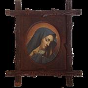 Madonna Portrait Black Forest Frame