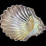 Georgian Shell Butter Dish Sterling