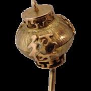 Asian Lantern Charm Vintage 14 Karat