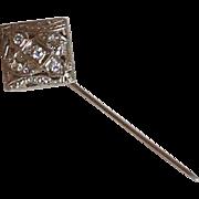 Diamond Filigree Stick Pin Edwardian