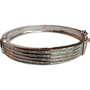 Diamond Bangle 14 Karat Bracelet 3 Carat