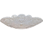 Brilliant Period Cut Glass Ice Cream Dish14.5""