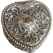 Heart Box Sterling Repousee England