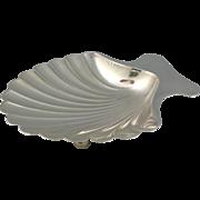 "Tiffany Sterling Silver Shell Dish 4"""