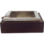 Spratling Square Ashtray Rosewood and Sterling 1940's