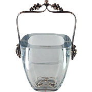 Grape Ice Bucket Sterling E Dragstead Mid Century Complete!