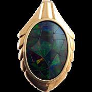 Opal Mosaic Enhancer Pendant 14k