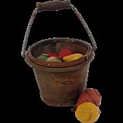 Bucket of Wood Tops