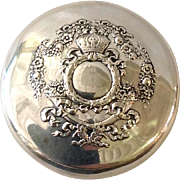 Sterling Crown Round Box 1890's